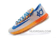 "814a8b5dc8b8 Nike KD 6 VI Elite ""Home"" White Orange Blue Mens For Sale Online Lastest  CEDDp6w"