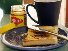 Breakfast in Australia – there's only one crucial ingredient here, Vegemite. Travelling Aussies are often found with a sneaky pot of the sticky, salty brown stuff in their backpack. Just don't get in the Vegemite vs Marmite war – Marmite, Best Breakfast, Breakfast Recipes, Vegan Breakfast, Breakfast Around The World, Brunch, Australia Day, Asian, Vegetarian Recipes