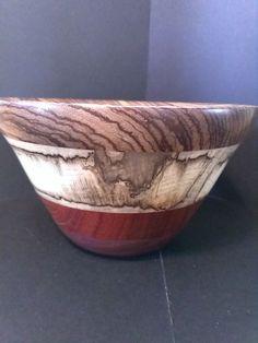 Wooden Decorative Bowls Hand Turned Wooden Unique Decorative Bowlzebra Wood Purple Heart