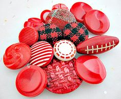 Red Assorted Vintage Sewing Buttons  Lot of 16 by vintagejunque, $5.50