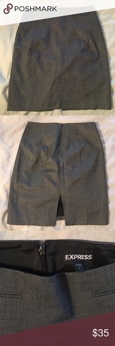 Express Pencil Skirt Grey pencil skirt only worn a few times GUC Express Skirts Pencil