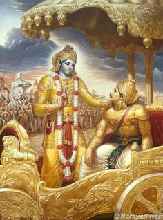 BHAGAVAD GITA {16 , 01 to 03 } Lord Krishna said: Fearlessness, purity of the inner psyche, perseverance in the yoga of Self-knowledge, charity, sense-restraint, sacrifice, study of the scriptures, austerity, honesty; nonviolence, truthfulness, absence of anger, renunciation, equanimity,  conti..