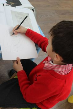 History of Art course at 3 House club London- a drawing inspired by Raphael's portrait was started by the teacher and continued by the children https://www.facebook.com/photo.php?fbid=863171180375996&set=pcb.863172297042551&type=1&theater Children learned about using hatched lines for shadows https://www.facebook.com/3HouseClub/photos/pcb.863172297042551/863171293709318/?type=1&permPage=1