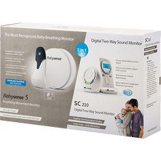 Monitor oddechu Babysense 5 z nianią elektroniczną 2w1