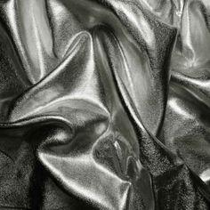 Gun metal Metallic Spandex 4-Way|NY Fashion Center Fabrics
