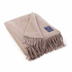 Lexington Company Icons Solid Wool Throw, Beige  | The Organizing Store #lexingtoncompany