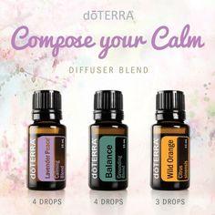 Compose your calm - lavender peace, balance and wild orange