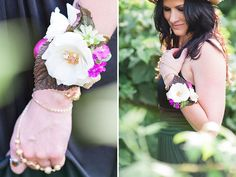 DIY Flower Bracelet, but with paper flowers instead of real flowers.