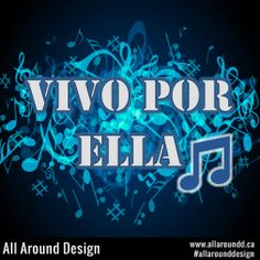 All Around Design: Do you like music? We love #music, and since it is international we have created this #design to the very talented Andrea Bocelli for his great song Vivo Por Ella ft. Marta Sanchez. - Click here to see our other #cool music related images and designs. Greatest Songs, My Music, Neon Signs, Cool Stuff, Image, Design, Cool Things, Design Comics