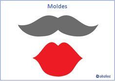 molde de bigode e boca para pirulito - Pesquisa Google