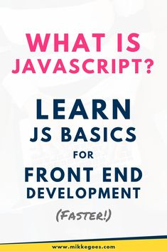 What is JavaScript? Should you start learning JavaScript fundamentals? Find out where to start and how to learn JavaScript fast right away. Learn Programming, Computer Programming, Coding For Beginners, Web Development Tools, Learning Web, Learning Quotes, Computer Coding, Computer Science, Web Design Quotes