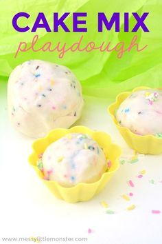 Edible Playdough Recipe - cake mix play dough