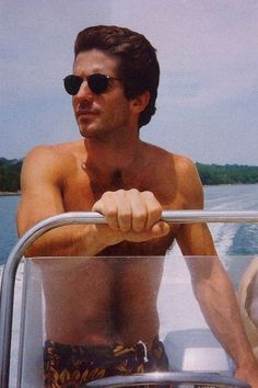 John Kennedy Jr.  Ooooh my...he was such a gorgeous man. Gone *much* too soon.....