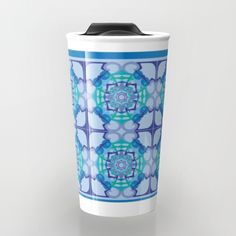"""Take your coffee to go with a personalized ceramic travel mug.  Double-walled with a press-in suction lid, the two-piece (12oz) design ensures long lasting temperatures while minimizing the risk of spillage from kitchen to car to office. Standing at just over 6"""" tall with wrap around artwork, safely sip hot or cold beverages from this one of a kind mug."""