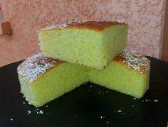 Part gâteau danette pistache