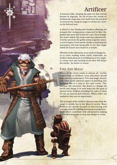 DnD 5e Homebrew — Artificer Class Source: https://goo.gl/1wr2jz...
