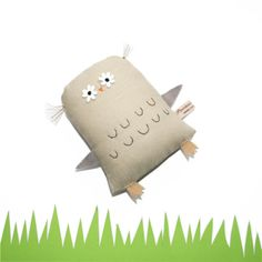 Plush Owl Toy, Handmade Toy Owl, Owl Softie, Woodland Creature, Soft Sculpture, Owl Doll, Fabric Doll, Art Doll, Poosac Owl on Etsy, $46.78