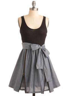zip up skirt dress