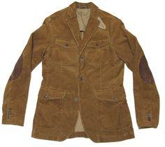 940fd970f6cd7  395 Polo Ralph Lauren Mens Brown Leather Corduroy Slim Fit Sportcoat  Blazer New