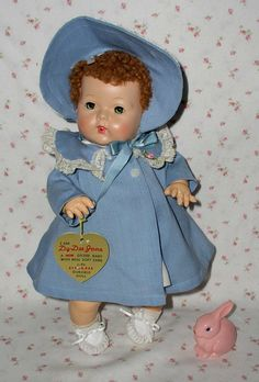 "1940s Mold 3 Effanbee 15"" Dy-Dee Jane All Original & Mint - A Wonder Doll that drinks & wets!"