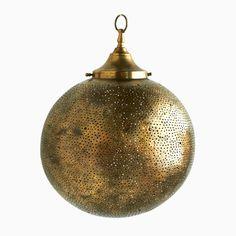 Bronze Globe Filigree Light Fixture | The Marrakech Collection