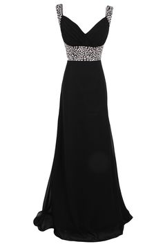 Sunvary Sequin Chiffon Bridesmaid Dresses Evening Prom Gowns Long Mother of the Groom Dress- US Size 2- Black