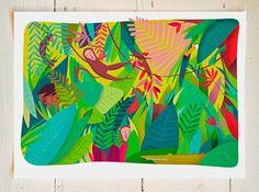 Lámina | Print | Ilustración infantil | Decoración infantil | Arte para niños | El libro de la selva