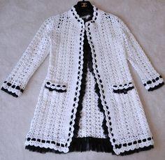 Chanel 05P  White Crochet Cardigan Jacket www.ebay.com: