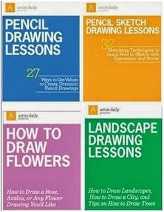 64 Free, DIY Nature Drawing Lessons - Click through to ArtistDaily.com ArtistDaily.com, download any of four free eBooks and teach yourself how to draw landscapes, trees, flowers and just about everything else.