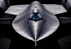"rhubarbes:  Lockheed SR-71 ""Blackbird"" viaAero-PicturesMore space ship here."