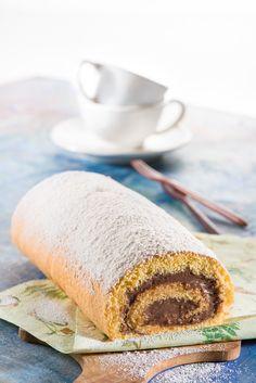 Brazo de gitano relleno de crema de chocolate