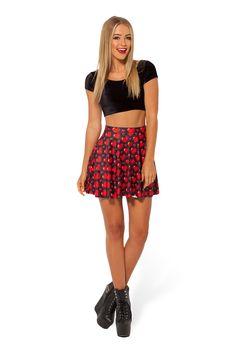 Love Ya Bits Black Skater Skirt - WEEKENDER PRE SALE by Black Milk Clothing $50AUD