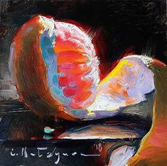 Hot Pink Grapefruit by Elena Katsyura Oil ~ 6 in x 6 in Nature Paintings, Animal Paintings, Watercolor Paintings, Oil Paintings, Watercolors, Vegetable Painting, Fruit Painting, Still Life Art, 2d Art