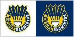 New Logo for Michigan University Badminton Club Badminton Club, Badminton Logo, Club Design, Logo Design, Graphic Design, Cool Stuff, Sports Clubs, Free Logo, Sports Logo