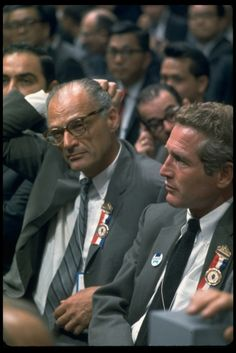 Paul Newman, Arthur Miller, Democratic Convention, Chicago, 1968 | LIFE's Best Convention Photos: The Democrats | LIFE.com