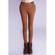 $12.52 Candy Color High Elasticity Casual Style Straight Leg Leggings For Women