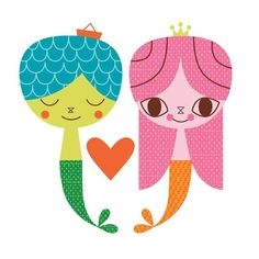 Oopsy Daisy - Sea of Love - Bright Canvas Wall Art Suzy Ultman Love Rainbow, Merfolk, Art For Kids, Canvas Wall Art, Daisy, Poster Prints, Fine Art, Illustration, Gifts
