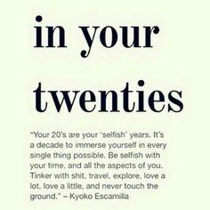 In my twenties