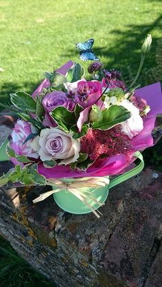 Watering can posy