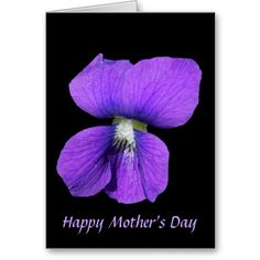 Purple Violet Mother's Day Card