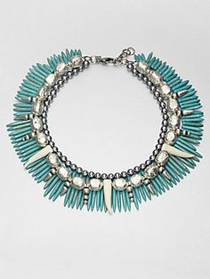Now THAT is a turquoise spike collar necklace! #DANNIJO