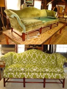 Before and after-- Duralee Fabric...