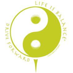 Drive Forward Short Sleeve #Golf T-Shirt for men and women. $28 http://www.lifeisbalance.com