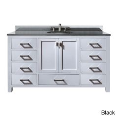 Avanity Modero 60-inch White Finish Single Vanity | Overstock.com Shopping - Great Deals on Bath Vanities