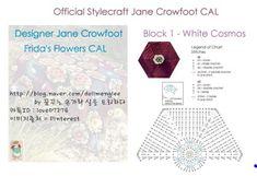 Pt 1 Diagram Chart for Frida's Flowers Blanket CAL 2016 called White Cosmos Block 1 Chart Jane Crowfoot: Modern Crochet Patterns, Crochet Mandala Pattern, Crochet Patterns For Beginners, Crochet Blanket Patterns, Crocheting Patterns, Baby Patterns, All Free Crochet, Crochet Chart, Beginner Crochet