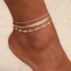 Ponuka produktov v akcii Ankle Jewelry, Ankle Bracelets, Cute Jewelry, Vintage Jewelry, Ear Jewelry, Jewellery, Cute Anklets, Beach Feet, Beach Foot Jewelry