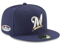 3373b9cf551 Milwaukee Brewers New Era 2018 MLB Postseason Patch 59FIFTY Cap