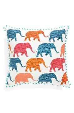 Levtex Patterned Elephants Accent Pillow available at #Nordstrom