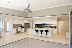 Where the Alfresco meets the kitchen. from NarrowLotHomes.com.au Types Of Houses, Perth, Custom Design, Living Rooms, The Unit, Sitting Rooms, Lounges, Family Rooms, Living Room