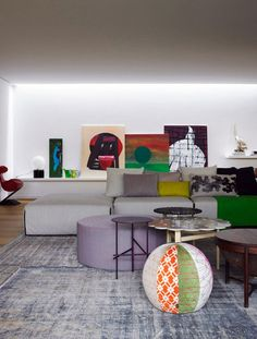 patrizia moroso house living room interior Patrizia Moroso's House by Patricia…